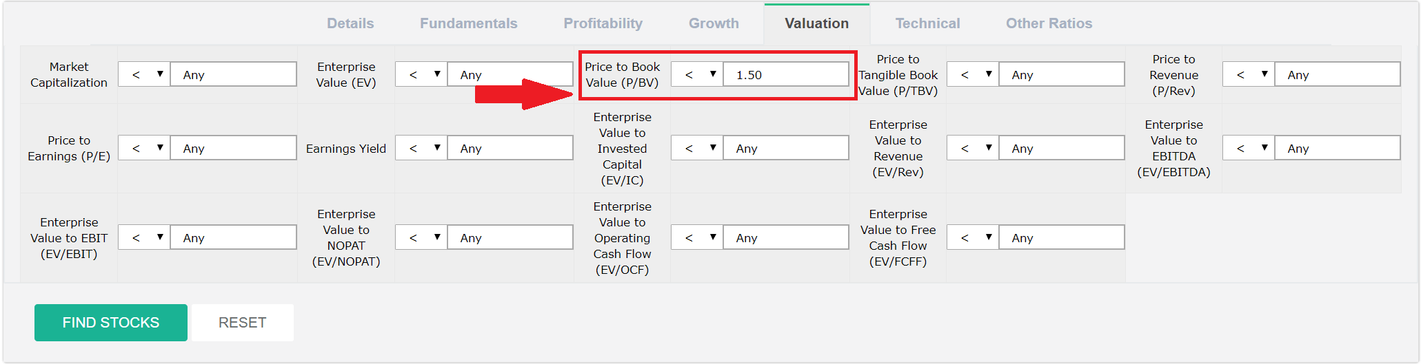 Price to Book Value Criteria.PNG